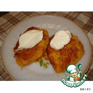 Рецепт: Морковно-кабачковые оладьи