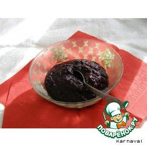Рецепт: Черноплодная рябина, протертая с сахаром