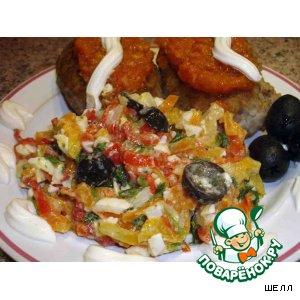 Рецепт: Салат «Разноцветный»