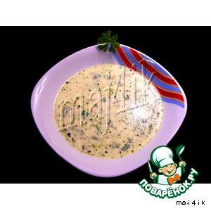 Рецепт: Суп из зелeного лука с сыром