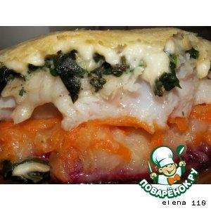 Рецепт: Рыба на овощной подушке