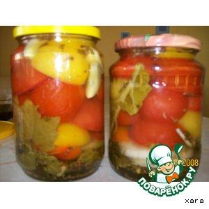 Рецепт: Помидоры в желе (консервация)
