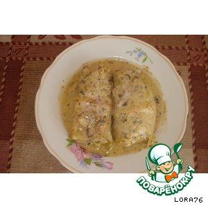 Рецепт: Голубцы в сметанном соусе