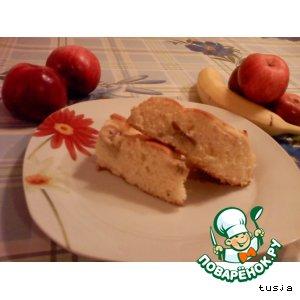 Рецепт: Пирог бананово-яблочный