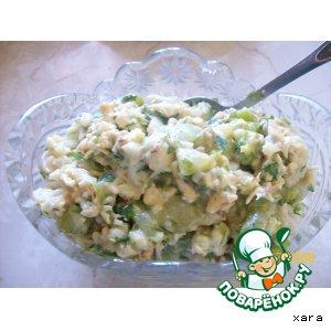 Рецепт: Салат из кабачков и цветной капусты