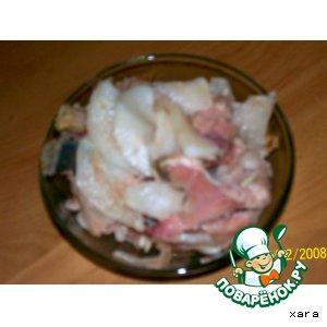 Рецепт: Панчай (острая соленая рыба с редькой)