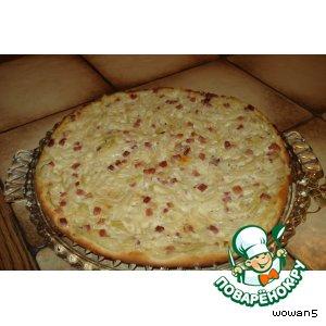 Рецепт: Эльзасский луковый пирог