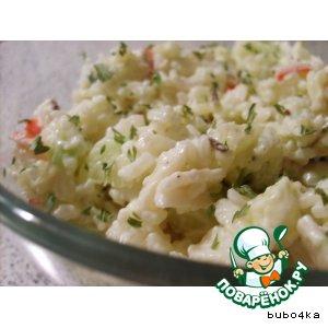 """Рецепт: Рисовый салат """"Лeгкий и вкусный"""""""