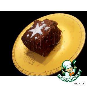 Рецепт: Брауни с шоколадом и орехами