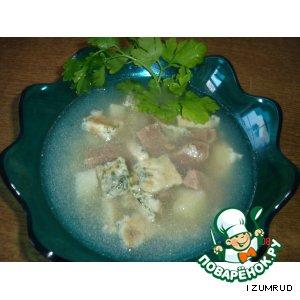 Рецепт: Лeгкий суп с яичницей