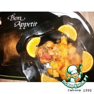 Рецепт: Тушeный кролик с апельсинами