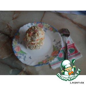 Рецепт: Салат куриный с крабовыми палочками