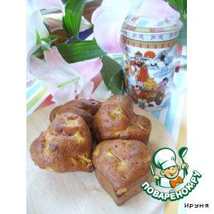 Рецепт: Дрожжевые ванильные кексы с ревенем