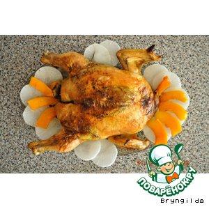 Рецепт: Фаршированная курица Меткий выстрел