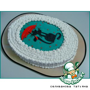 Торт ко дню Святого Валентина