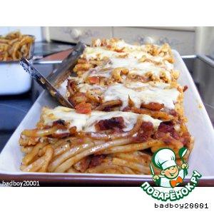 Рецепт: Запеканка из спагетти