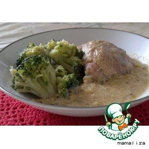 Рецепт: Курица в горчично-порейном соусе