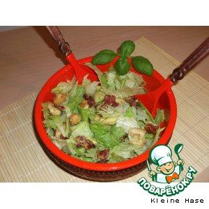 Рецепт Салат с авокадо и беконом