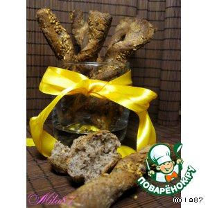 Рецепт: Хлебные палочки из льняной муки