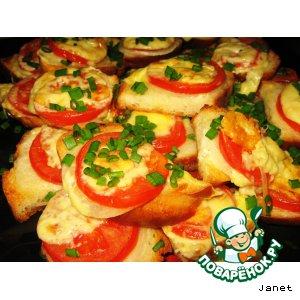 Рецепт: Горячие бутерброды в духовке «Долголетие»