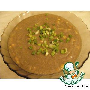Рецепт: Суп-пюре грибной с кукурузой