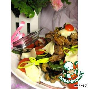 Рецепт: Теплый салат из печени от МаRковича