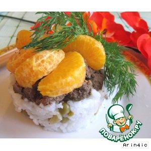 Рецепт: Печень по-японски с мандаринами