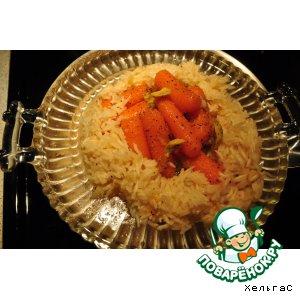 Рецепт Морковь в апельсиновом  мармеладе с рисом