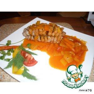 Рецепт: Карп Хризантема под соусом