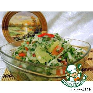 Рецепт: Салат из маринованного перца