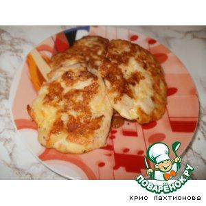 Рецепт: Рубленые куриные котлеты с плавленым сыром