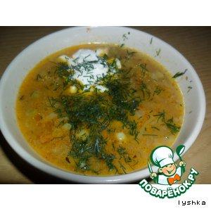 Рецепт: Мультиовощной суп с грибами (постный)