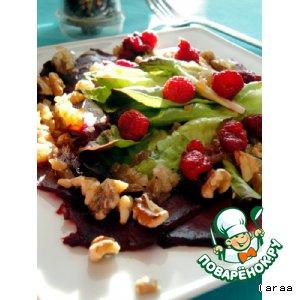 Рецепт: Салат из запеченной свеклы