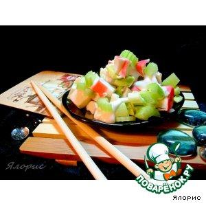 Рецепт: Крабовый салат с сельдереем и авокадо