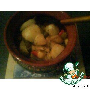 Рецепт: Овощи в горшочке