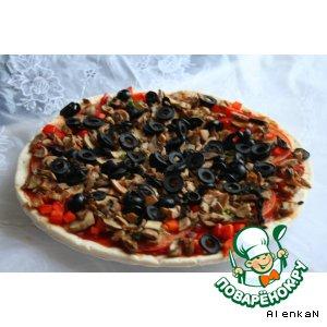 Рецепт: Постная пицца