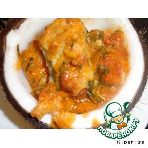 Рецепт: Рыбное филе в маринаде под овощным соусом