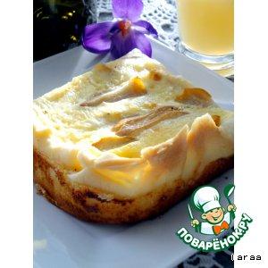 Рецепт: Сырный пирог с грушами