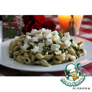 Рецепт: Asparagus and peas conchiglie - Ракушки с аспарагусом и горошком