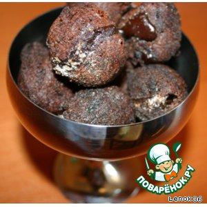 Рецепт: Шоколадные шарики с кремом