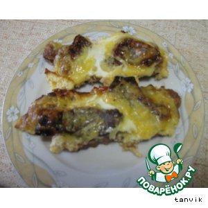 Рецепт: Телятина с вялеными помидорами и омлетом