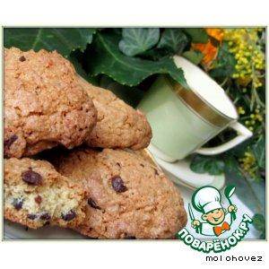 Рецепт: Овсяное печенье с шоколадом