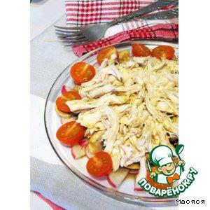 Рецепт: Легкий салат из курицы и овощей