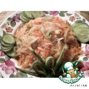 Рецепт: Салат с зелeной редькой