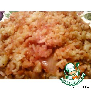 Рецепт: Рис в горшочках
