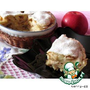 Рецепт: Самый вкусный яблочный пирог