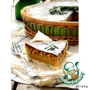 Рецепт: Пирог с медом, кедровыми орехами и розмарином