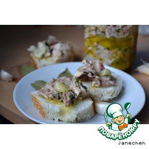 """Рецепт: Тунец из кролика """"Tonno di coniglio"""""""