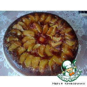 Рецепт: Постный пирог-перевeртыш Гости на пороге