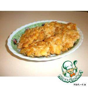 Рецепт: Сырные нагетсы Нежные
